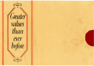 1927 Ford Greater Values Mailer