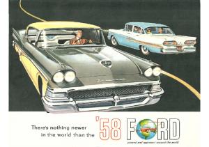 1958 Ford Full Line Foldout