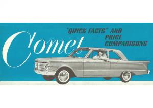 1960 Mercury Comet Quick Facts