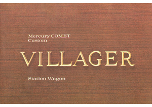 1962 Mercury Comet Villager Wagon