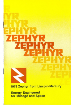 1978 Mercury Zephyr Booklet