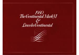 1980 Lincoln Continental & Mk VI (Cdn)