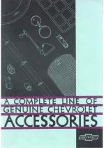 1931 Chevrolet Acc Booklet