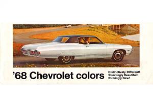 1968 Chevrolet Colors Foldout