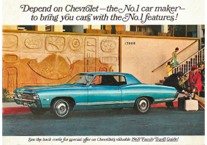 1968 Chevrolet Full Line Mailer