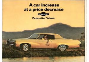 1969 Chevrolet Pacesetter Values Mailer