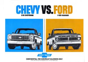 1976 Chevrolet C10 vs Ford F100