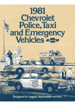 1981 Chevrolet Police & Taxi Vehicles