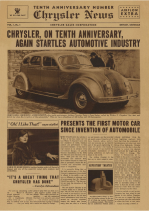 1934 Chrysler NY Auto Show Handout
