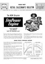 1951 Chrysler FirePower Advantages