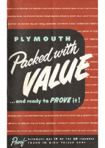 1951 Plymouth Value Booklet