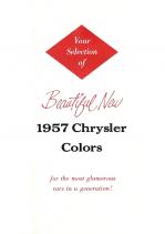1957 Chrysler Colors Folder