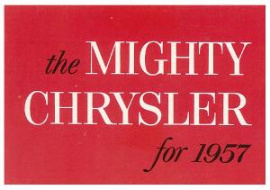 1957 Chrysler Full Line Mini Folder