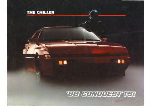 1986 Plymouth Conquest TSi Foldout