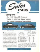 1949 Hudson February Sales Facts Hudson vs Oldsmobile 98