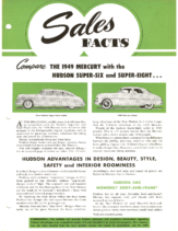 1949 Hudson July Sales Facts Hudson vs Mercury