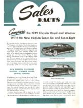 1949 Hudson June Sales Facts Hudson vs Chrysler Royal Windsor