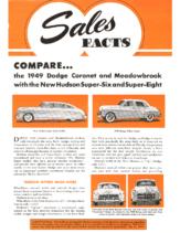 1949 Hudson June Sales Facts Hudson vs Dodge