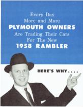 1958 AMC Rambler vs Plymouth Mailer