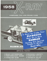1958 AMC Rambler vs Plymouth X-Ray Mailer