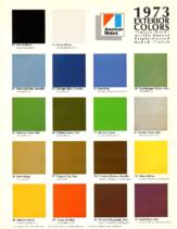 1973 AMC Exterior Colors Chart