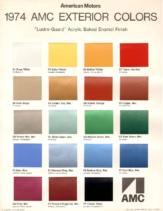 1974 AMC Exterior Color Chart