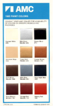 1983 AMC Color Chart