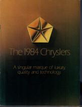 1984 Chrysler Full Line