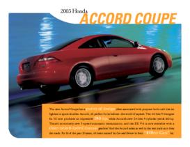 2003 Honda Accord Coupe Factsheet