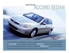 2003 Honda Accord Factsheet