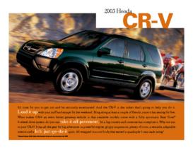 2003 Honda CR-V Factsheet