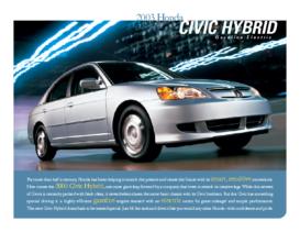 2003 Honda Civic Hybrid Factsheet