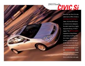 2003 Honda Civic Si Factsheet