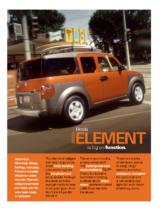 2003 Honda Element Factsheet