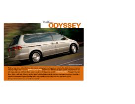 2003 Honda Odyssey Factsheet