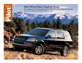 2003 Honda Pilot Factsheet