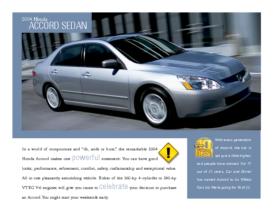 2004 Honda Accord Sedan Factsheet