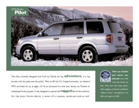 2004 Honda Pilot Factsheet