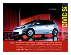 2005 Honda Civic Si Factsheet