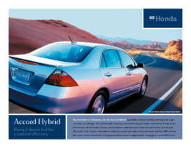 2006 Honda Accord Hybrid Factsheet