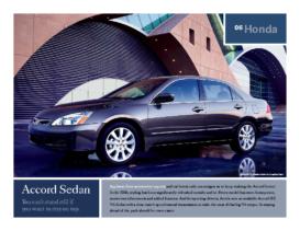 2006 Honda Accord Sedan Factsheet