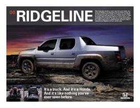 2006 Honda Ridgeline Factsheet
