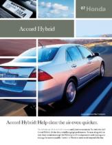 2007 Honda Accord Hybrid Factsheet