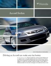 2007 Honda Accord Sedan Factsheet