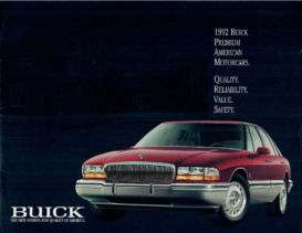 1992 Buick Full Line Handout