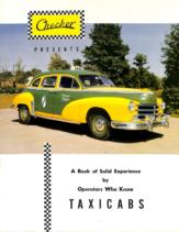 1953 Checker Taxicab Testimonials Brochure