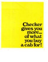 1969 Checker Taxicab
