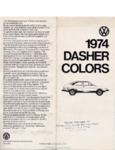 1974 VW Dasher Colors
