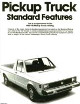 1980 VW Pickup Supplementary