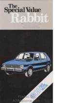 1980 VW Special Value Rabbit